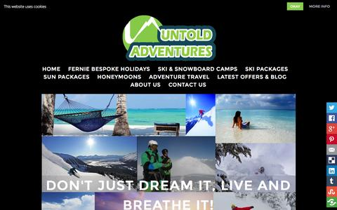 Screenshot of Home Page untoldadventures.co.uk - Untold Adventures | Travel Agency Tour & Adventure Travel Operator - captured Oct. 9, 2014