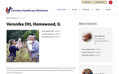 Screenshot of Testimonials Page chministries.org - Homewood, IL              | Christian Healthcare Ministries - captured May 16, 2019