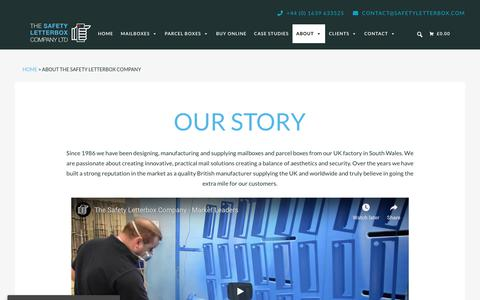 Screenshot of About Page safetyletterbox.com - About Us | The Safety Letterbox Company - captured Oct. 18, 2018