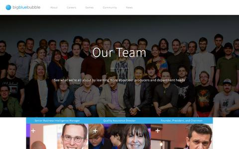 Screenshot of Team Page bigbluebubble.com - Our Team - Big Blue Bubble - captured July 29, 2016