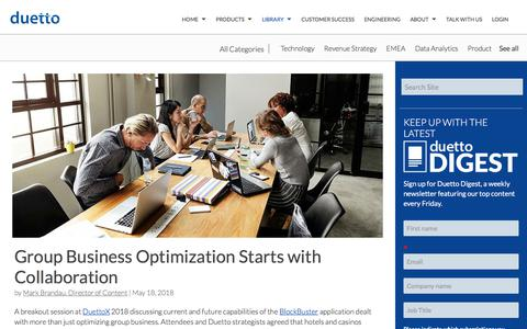 Screenshot of Case Studies Page duettocloud.com - Group Business Optimization Starts with Collaboration - captured Jan. 6, 2020