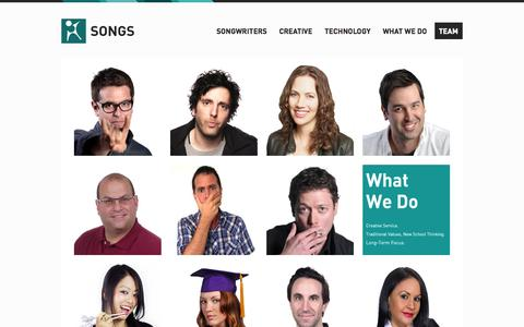 Screenshot of Team Page songspub.com - SONGS - captured Oct. 7, 2014