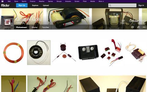 Screenshot of Flickr Page flickr.com - Flickr: CustomCoils' Photostream - captured Oct. 23, 2014