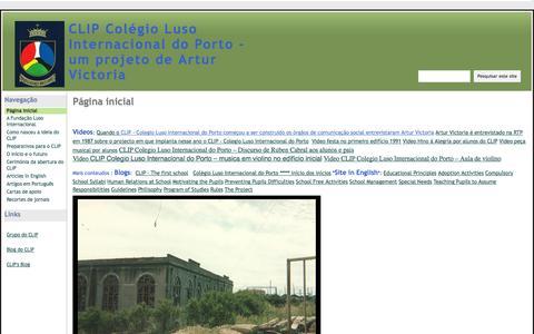 Screenshot of google.com - CLIP Colégio Luso Internacional do Porto - um projeto de Artur Victoria - captured Oct. 11, 2014