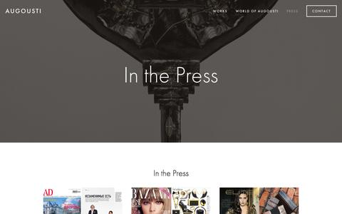 Screenshot of Press Page augousti.com - Press — Augousti - captured Feb. 17, 2016