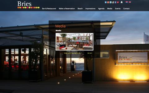 Screenshot of Press Page bries-noordwijk.nl - Media | Bries Noordwijk | Bar Restaurant Beach - captured Oct. 5, 2014