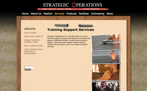 Screenshot of Services Page strategic-operations.com - Training Support Services | Strategic Operations - captured Oct. 7, 2014