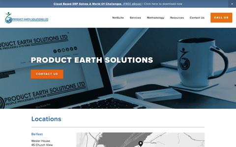 Screenshot of Locations Page productearthsolutions.com - Locations — Product Earth Solutions | Cloud Business Software Suite - captured July 17, 2016