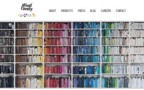 Screenshot of Terms Page mindcandy.com - Mind Candy - captured July 21, 2014