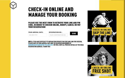 Screenshot of Login Page the-yellow.com - The Yellow Hostel Check In Online - captured Oct. 25, 2017