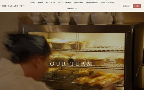 Screenshot of Team Page thehatandtun.com - The Hat And Tun | Our Team - captured Oct. 20, 2018