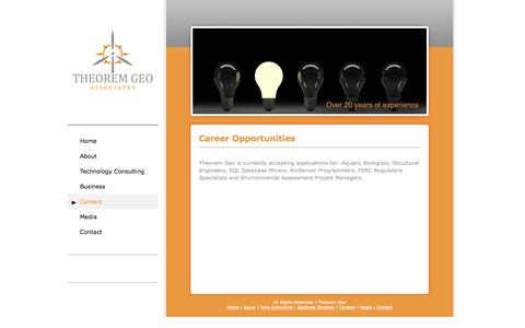 Screenshot of Jobs Page theoremgeo.com - Theorem Geo Associates - captured Oct. 9, 2014