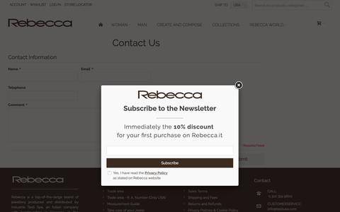 Screenshot of Contact Page rebecca.it - Contact Us - captured Oct. 18, 2018