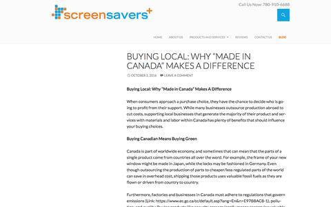 Screenshot of Blog screen-savers-plus.com - Edmonton Retractable Screens - Blog - Screen Savers Plus - captured Dec. 1, 2016