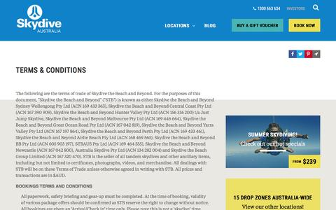 Screenshot of Terms Page skydive.com.au - Terms & Conditions | Skydive Australia - captured Dec. 5, 2015