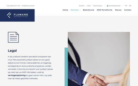 Screenshot of Terms Page flamand.be - Als juridisch kantoor bieden we bijstand op maat van uw KMO. - Flamand - captured Oct. 10, 2018
