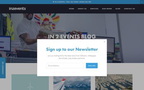 Screenshot of Blog in2events.co.uk - Blog | In2events | Award-winning UK Agency - captured Oct. 11, 2018