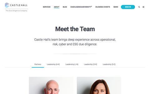 Screenshot of Team Page castlehalldiligence.com - Our Team - captured July 16, 2018