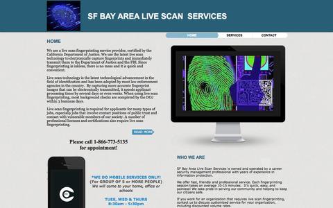 Screenshot of Home Page sfbayarealivescan.com - SF BAY AREA LIVE SCAN - captured Oct. 4, 2014