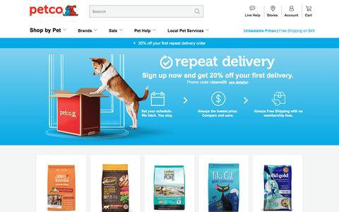 Petco Repeat Delivery: Dog, Cat, Pet Food Delivery with Free Shipping | Petco