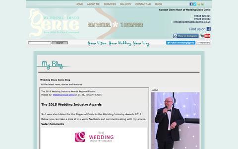 Screenshot of Blog weddingdiscogenie.co.uk - Wedding Disco Genie Blog - captured Dec. 14, 2016
