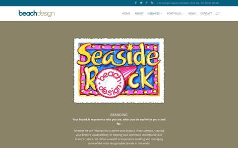 Screenshot of Services Page beach-design.co.uk - SERVICES - Design Agency Northumberland   Beach Design - captured Dec. 30, 2015