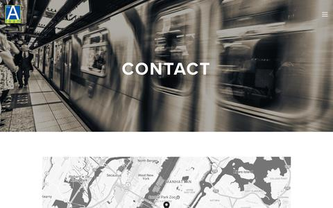 Screenshot of Contact Page theateamagency.com - Contact — The A Team Agency - captured Nov. 4, 2017