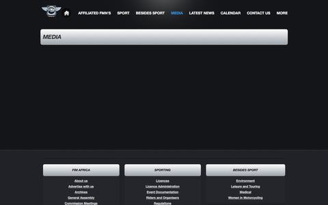 Screenshot of Press Page webs.com - FIM AFRICA - MEDIA - captured Aug. 9, 2018