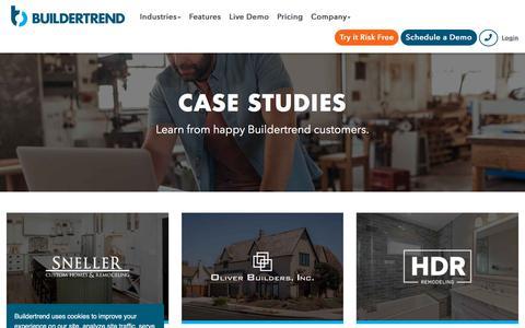 Screenshot of Case Studies Page buildertrend.com - Case Studies | Buildertrend - captured Aug. 12, 2019