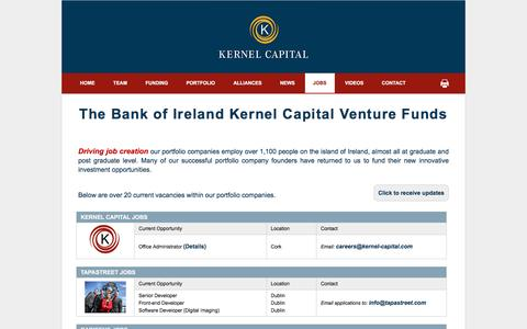 Screenshot of Jobs Page kernel-capital.com - Kernel Capital - captured Jan. 9, 2016