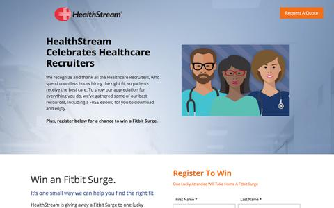 Screenshot of Landing Page healthstream.com - Hire The Right People Campaign - captured June 17, 2017