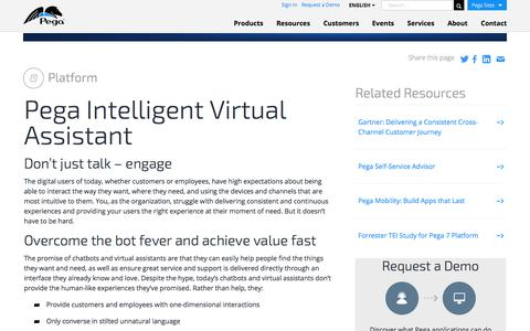 Pega Intelligent Virtual Assistant | Pega