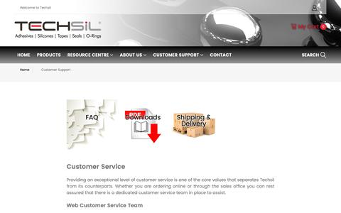 Screenshot of Support Page techsil.co.uk - Techsil | Customer Support - captured Oct. 20, 2018