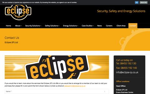 Screenshot of Contact Page eclipse-ip.co.uk - Contact Eclipse (IP) Ltd - Security, Safety & Energy Solutions - captured Oct. 22, 2014