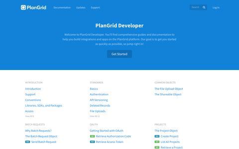 Screenshot of Developers Page plangrid.com - PlanGrid - captured June 23, 2017