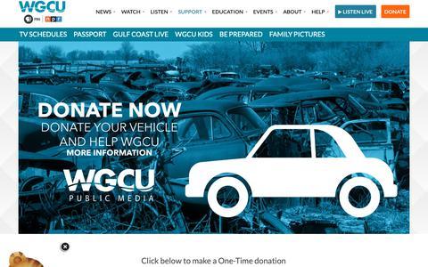 Screenshot of Support Page wgcu.org - Support (Home) – WGCU - captured Nov. 22, 2018