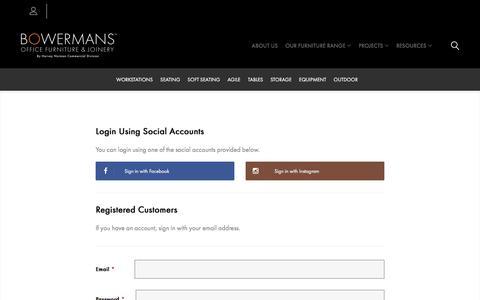 Screenshot of Login Page bowermans.com.au - Customer Login - captured Jan. 20, 2020