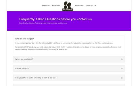 Screenshot of FAQ Page bairwell.com - FAQ | Bairwell PHP and WordPress Development - captured May 31, 2017