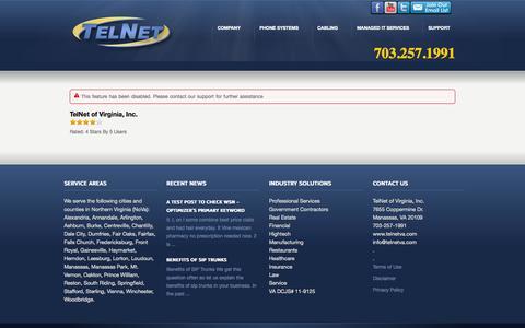 Screenshot of Testimonials Page telnetva.com - Testimonials 2 «  IP Phone Systems   703-257-1991   VoIP Phone System   Network Cabling   Northern Virginia   MD   DC - captured Oct. 26, 2014