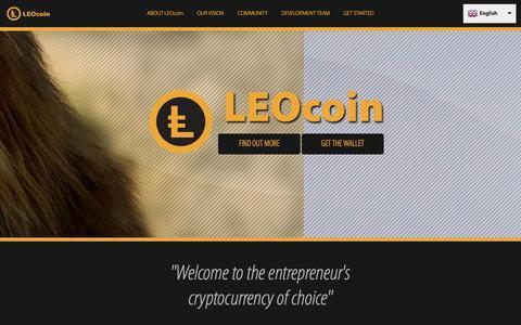 Screenshot of Home Page leocoin.org - LEOcoin.org - captured Sept. 22, 2014
