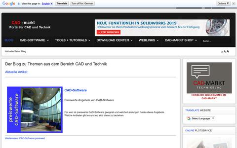 Screenshot of Home Page cad-markt.de - Das Portal für CAD und Technik - cad-markt.de - captured Oct. 30, 2018
