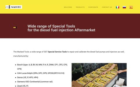 Screenshot of Products Page marbed.com - Diesel tools - captured Nov. 6, 2018