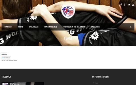 Screenshot of Team Page hsgworms-handball.de - HSG Worms Handballverein  Team - HSG Worms Handballverein - captured May 23, 2018