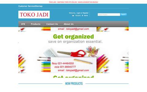 Screenshot of Home Page tokojadi.net - Toko ATK Alat Tulis Kantor, Whiteboard,  Kertas Photocopy - captured Sept. 30, 2014