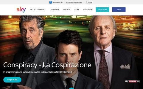 Screenshot of Home Page sky.it - Sky - sport, news, cinema, intrattenimento, serie tv - captured June 19, 2017