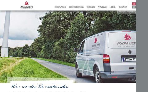 Screenshot of Team Page availon.eu - Management - Availon GmbH (Deutsch) - captured Sept. 25, 2015
