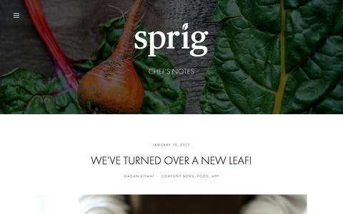 Screenshot of Blog sprig.com - Sprig - captured May 27, 2017