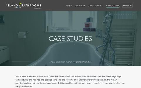 Screenshot of Case Studies Page islandbathrooms.co.uk - Kitchen & Bathroom Case Studies – Real Homes | Island Bathrooms - captured Jan. 12, 2017