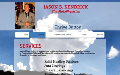 Screenshot of Services Page jasonbkendrick.com - JasonBKendrick.com  | SERVICES - captured Nov. 19, 2016