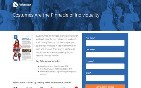 Screenshot of Landing Page reflektion.com - BuySeasons Case Study - captured Oct. 20, 2016